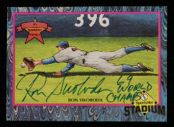 "Signed 2.5"" x 3.5"" Card of ""The Catch"""